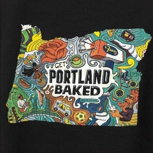 🆕BLACK GET PORTLAND BAKED SHIRT SIZE SMALL